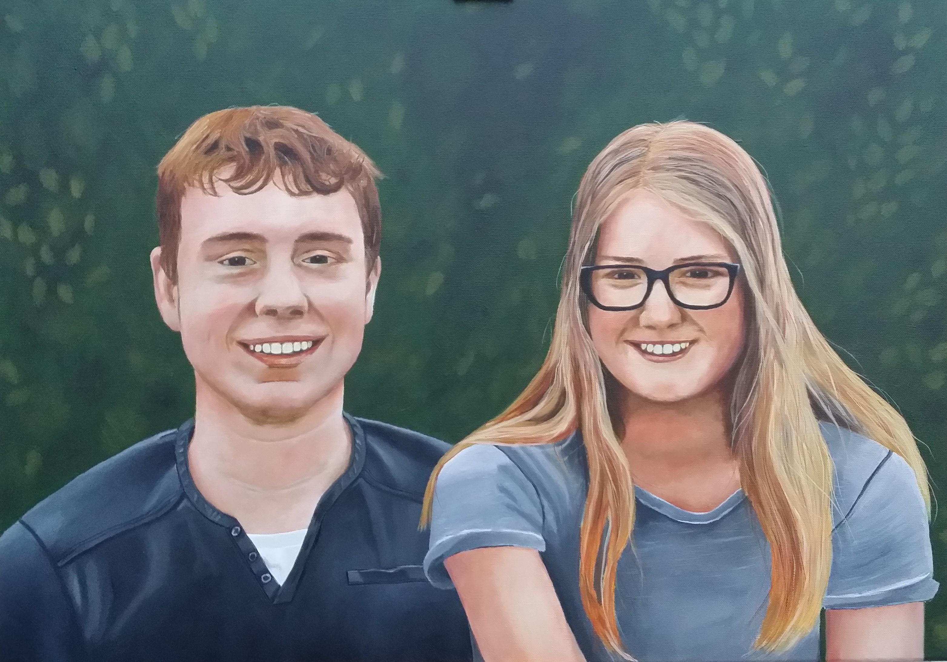 Portret Maarten en Femke