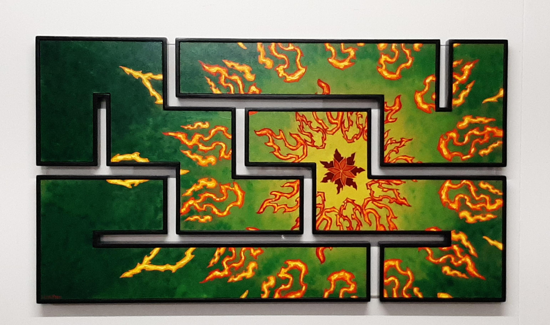 Erik-Pater-Rode-Mandala-op-Groen