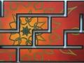 Erik-Pater-Groene-Mandala-op-Rood