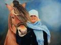 Grietje met haar paard